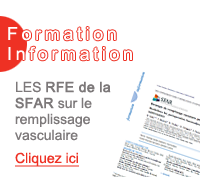 LES RFE de la SFAR sur le remplissage vasculaire